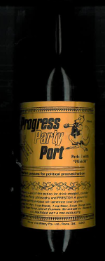 Progress Party Port produced by John and Anna McRobert